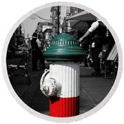 Fire Hydrant From Little Italy Round Beach Towel