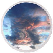 Fire In The Sky - 1 Round Beach Towel