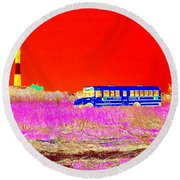 Fire Island Life Round Beach Towel