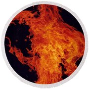 Fire Man Round Beach Towel