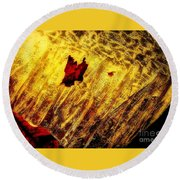 Fire Of The Frost Round Beach Towel