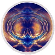 Fire Spin 1 Round Beach Towel