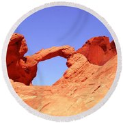 Fire Valley Arch Round Beach Towel