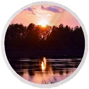 Fire Water Round Beach Towel
