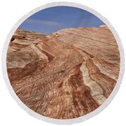Fire Wave - Valley Of Fire Round Beach Towel