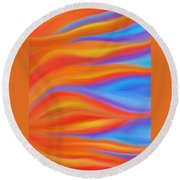 Firelight Round Beach Towel