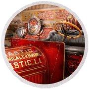 Fireman - Mastic Chemical Co Round Beach Towel