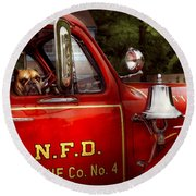 Fireman - This Is My Truck Round Beach Towel