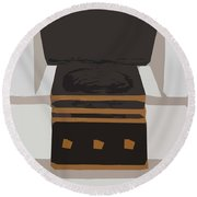 Fireside Without You Round Beach Towel