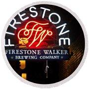 Firestone Walker Brewing Company Round Beach Towel
