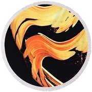 Firewater 5 - Abstract Art By Sharon Cummings Round Beach Towel
