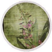 Fireweed - Featured In 'comfortable Art' Group Round Beach Towel