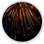 Firework Indian Headdress Round Beach Towel