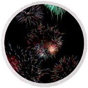Colorful Explosions No2 Round Beach Towel