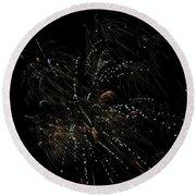 Fireworks 16 Round Beach Towel