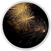 Fireworks 20 Round Beach Towel by Sandy Swanson
