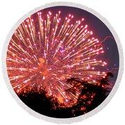 Fireworks 2014  1 Round Beach Towel