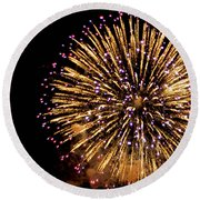 Fireworks 2014  10 Round Beach Towel
