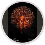 Fireworks 2014  13 Round Beach Towel