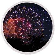 Fireworks 2014  3 Round Beach Towel