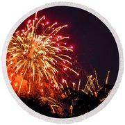 Fireworks 2014  4 Round Beach Towel