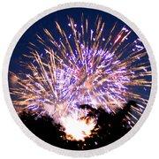 Fireworks 2014  6 Round Beach Towel