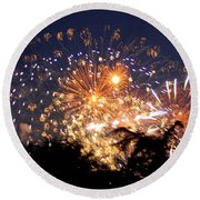 Fireworks 2014  7 Round Beach Towel