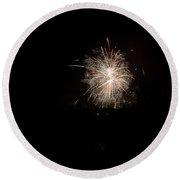 Fireworks 51 Round Beach Towel