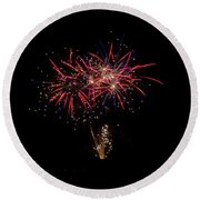 Fireworks 52 Round Beach Towel