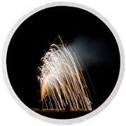 Fireworks 8 Round Beach Towel