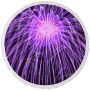 Fireworks At Night 2 Round Beach Towel