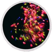 Fireworks At Night 4 Round Beach Towel