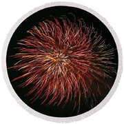 Fireworks At Night 5 Round Beach Towel