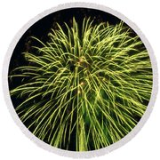 Fireworks At Night 8 Round Beach Towel