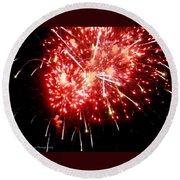 Fireworks Display At Niagara Falls Round Beach Towel