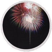 Fireworks For 4th Of July Round Beach Towel