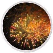 Fireworks IIi Round Beach Towel