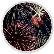Fireworks Spectacular Round Beach Towel