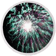 Fireworks Splendor Round Beach Towel