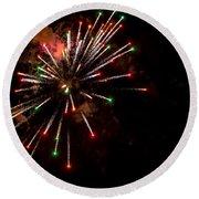 Fireworks2 Round Beach Towel