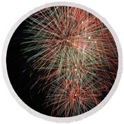 Fireworks6500 Round Beach Towel