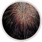Fireworks6503 Round Beach Towel