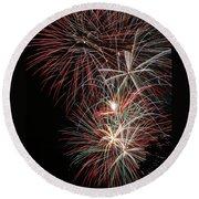 Fireworks6518 Round Beach Towel