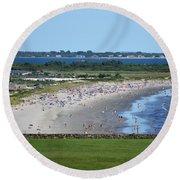 First Beach Newport Ri Round Beach Towel
