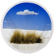 First Contact Round Beach Towel
