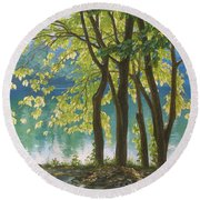 First Day Of Autumn Round Beach Towel