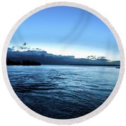 First Ferry Home Round Beach Towel