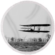 First In Flight Round Beach Towel