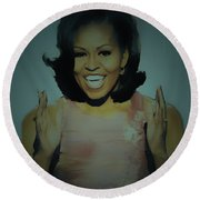First Lady Round Beach Towel