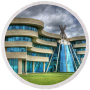 First Nations University Of Canada Round Beach Towel